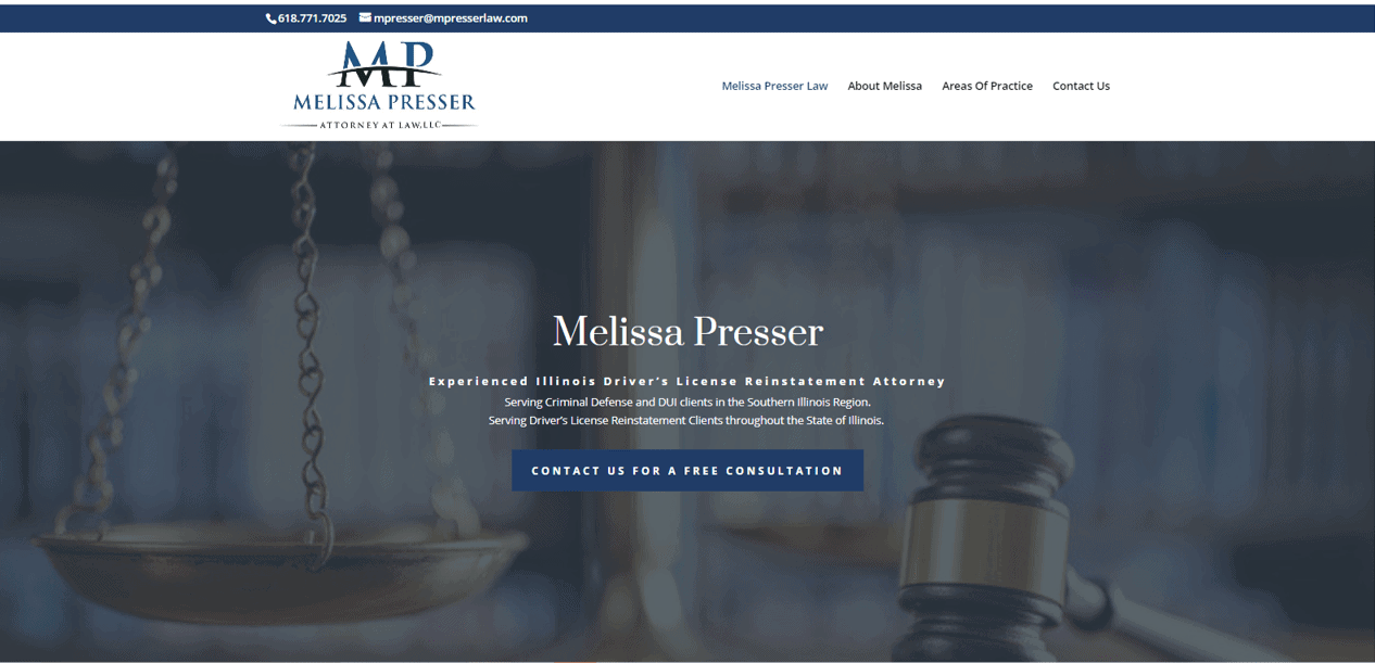 MPresserLaw.com - Website Design Paducah